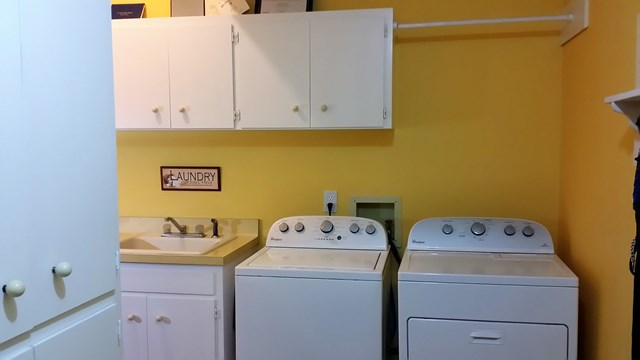 Washer and dryer area