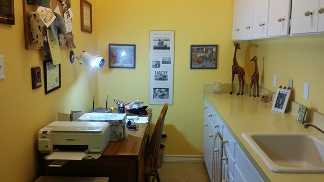 Desk area in the utility room